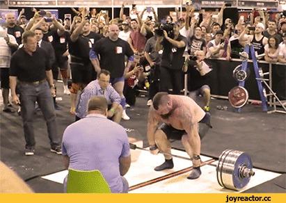 Эдди Холл тянет рекордные 500 кг Пауэрлифтинг, Становая тяга, Англия, Соревнования, Борода, Стальные яйца, Видео, Гифка
