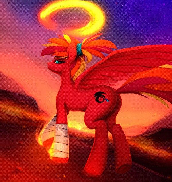 Fire Strike My little pony, Гифка, Арт