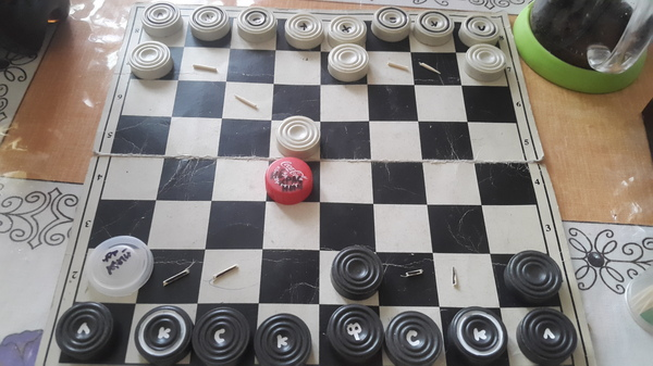 Когда очень хочется сыграть в шахматы, а есть только шашки... Шахматы, культурный отдых, моё
