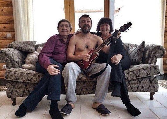 Сергей Шнуров и его родители