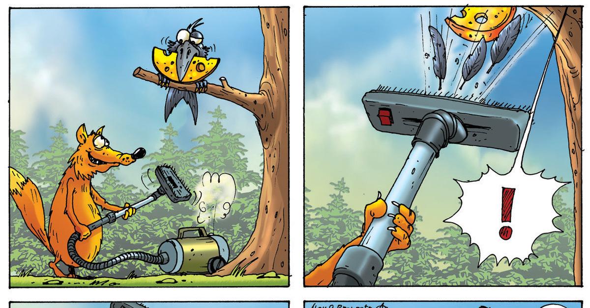 Смешные картинки про ворону и лисицу