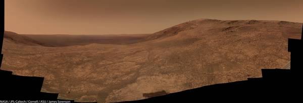 Свежая панорама с Марса от марсохода Оппортьюнити марс, панорама, Марсоход, оппортьюнити