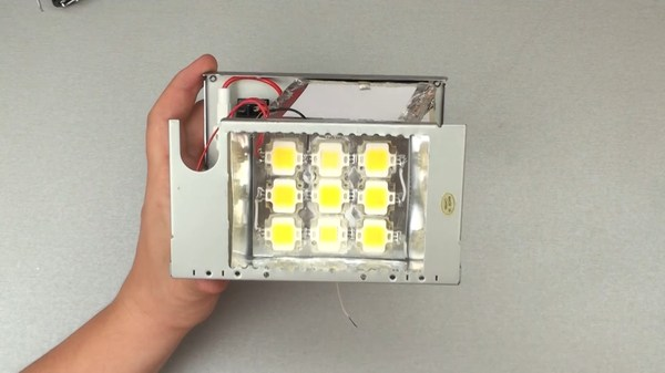 Делаем LED прожектор 50W из хлама LED, Прожектор, Самоделки, Сделай сам, Своими руками, Видео, Длиннопост