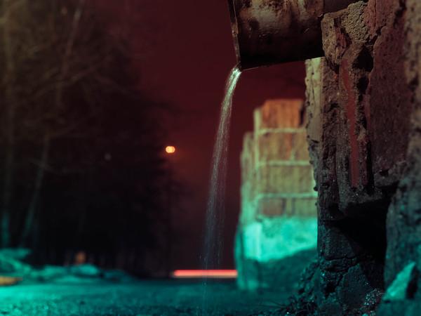 Ночь, улица, фонарь, водосточная труба