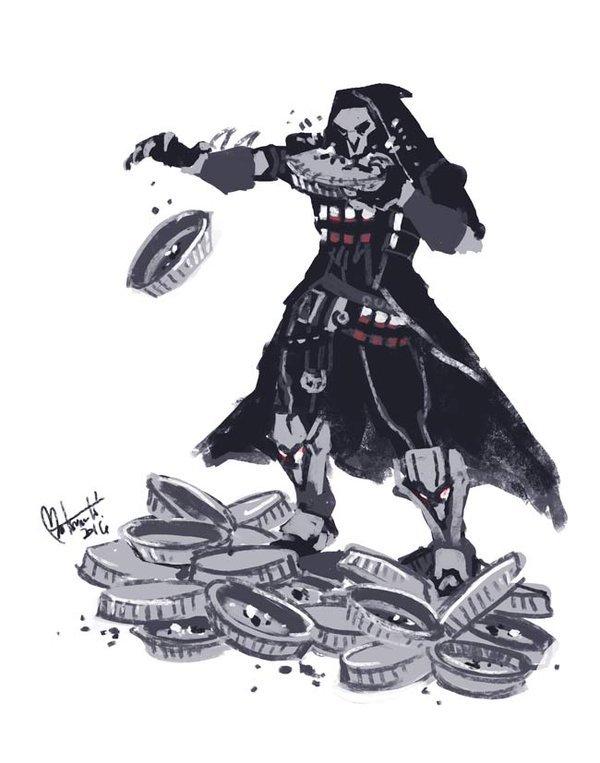 Жнец PIE PIE PIE Overwatch, Reaper, Игры, Blizzard, Длиннопост