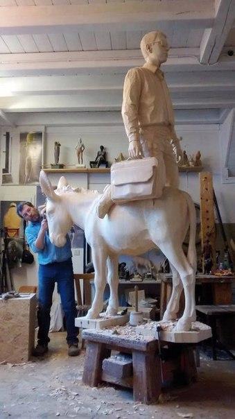 Скульптуры Willy Verginer Дизайн, Скульптура, Дерево, Willy Verginer, IDL, Длиннопост