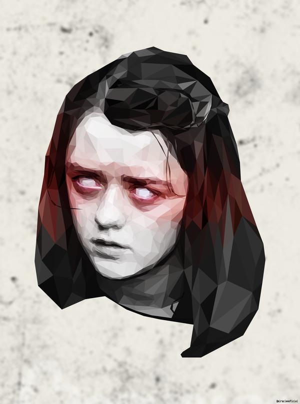 Девочка из полигонов