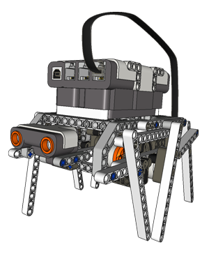 Хитрый механизм для робота-гексапода из LEGO Mindstorms Lego, Робот, Lego Mindstorms, Гифка