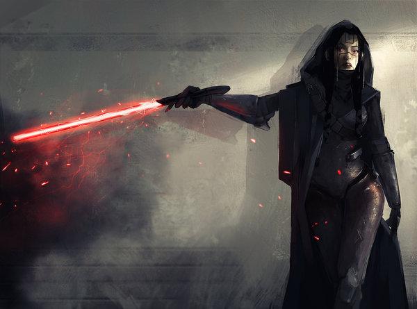 Dark Side Star wars, Арт, HD, Длиннопост