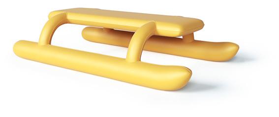 Надувные санки, чтобы металлические полозья больше не вспарывали детишкам животы Идея, Санки