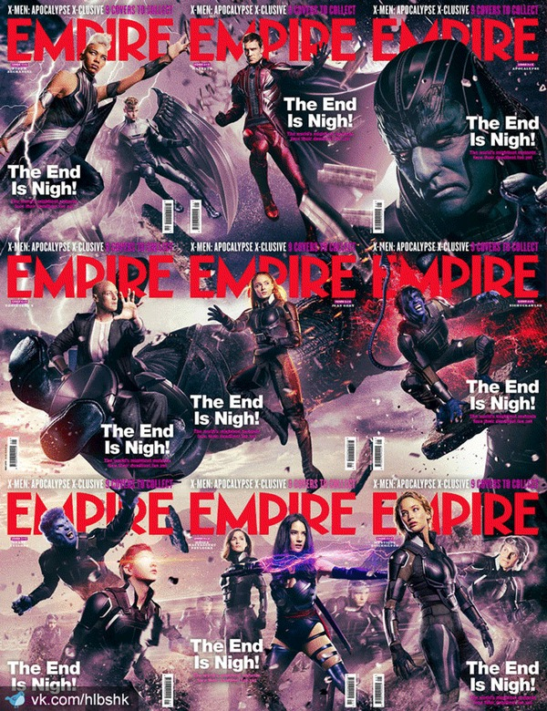 Обложки журналов Empire Люди Икс: Апокалипсис