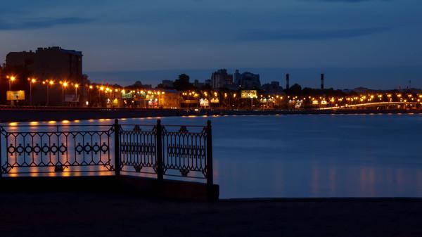 Ночной Санкт-Петербург Фото, Ночь, Огни ночного города, Моё, Россия, Санкт-Петербург, ЦПКиО