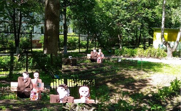 Фигуры в детском садике Детский сад, Фигуры, Дед с бабкой, Крипота