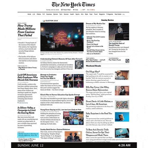 Как менялась главная страница NYT во время событий в Орландо Орландо, Политика, Терроризм, Гифка
