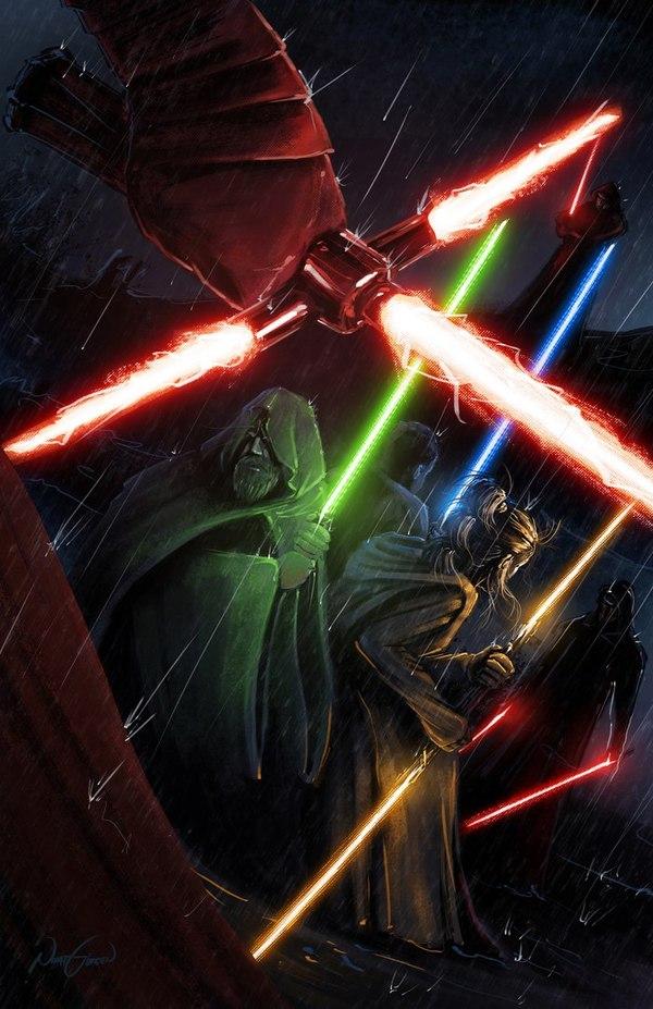 Люк, Рей и Финн готовятся к бою с Рыцарями Рен