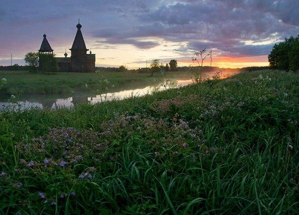 Рассвет в Саунино Архангельская область, Природа, Россия, Фото, фотография, рассвет, лето, съездить