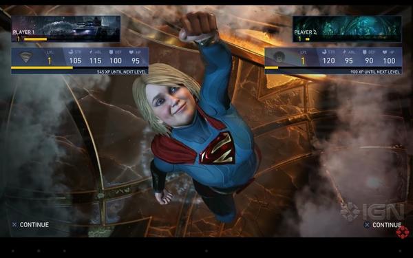 Лицо какое-то знакомое. Injustice 2, Supergirl, Няш-Мяш