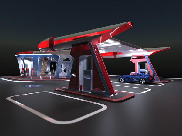 Проект АЗС Азс, Космос, Заправка, Промышленный дизайн, Дизайн, Архитектура, Forma, Санкт-Петербург