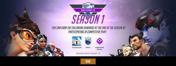 Первый рейтинговый сезон Overwatch (патч от 21.06) Overwatch, Blizzard, Патч, Обновление, Видео, Длиннопост
