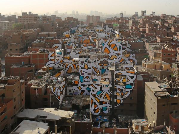 Street Art по-крупному! стрит-арт, граффити, Египет, длиннопост, Картинки