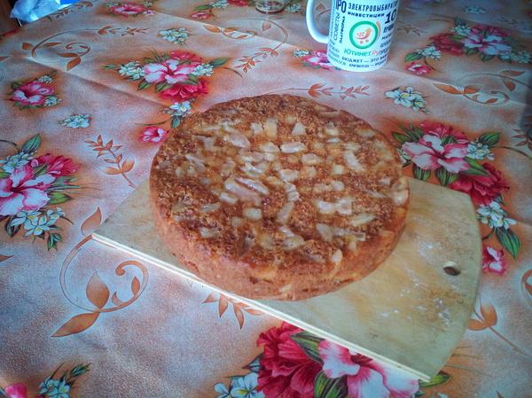 Яблочный пирог в мультиварке. Еда, Приготовление, Мультиварка, Рецепты для мультиварки, Пирог, Длиннопост