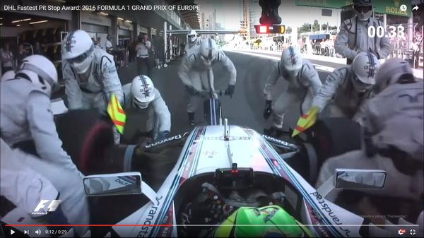Самый быстрый в мире шиномонтаж: 1,92 секунды! Формула 1, Williams racing, Мировой рекорд, Баку
