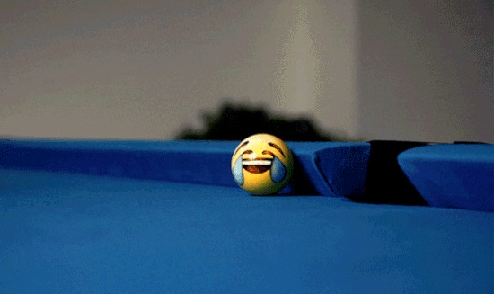 Бильярд с шарами-emoji Бильярд, Эмодзи, Смайл, Арт, Гифка, Длиннопост