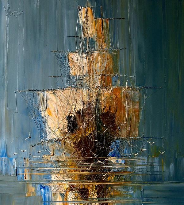Ощущение объёма в картине польской художницы Юстины Копаня