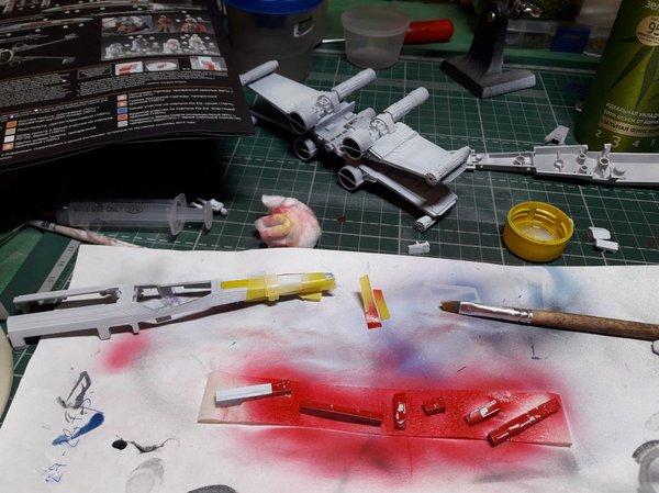 X-Wing от Bandai Моделизм, Стендовый моделизм, Star wars, x-Wing, Длиннопост
