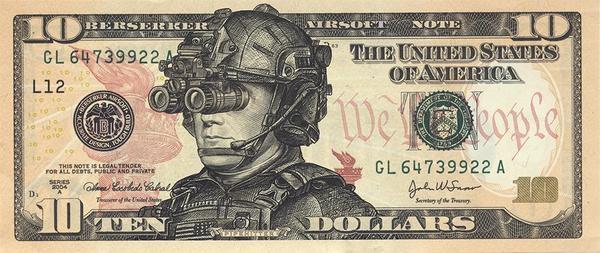 Тактические доллары Доллар, Оружие, Страйкбол, Airsoft, Tactical Money Sticker Set, Redarmyairsoft, Длиннопост