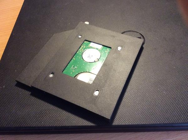 Опыт дополнения ноутбука SSD диском SSD, Hdd, Caddy, Жесткий Диск, Ноутбук, Апгрейд, Своими руками, Длиннопост
