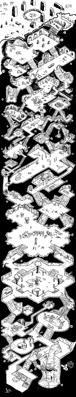 Типичное геройское подземелье. Подземелье, Настольные игры, Карты, Сечение, Длиннопост