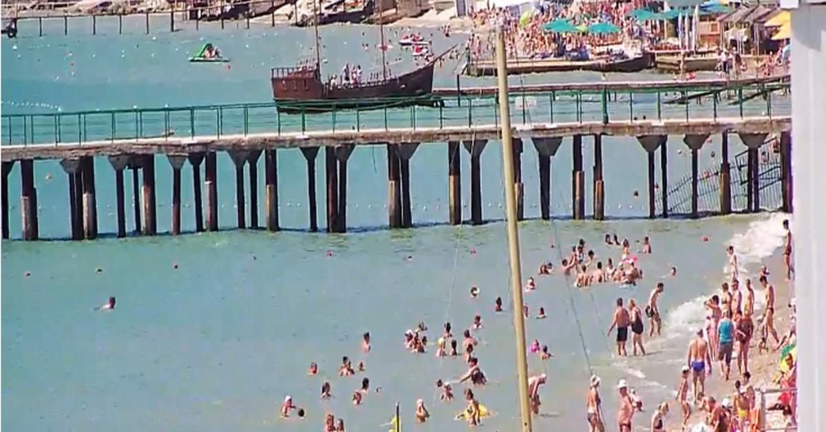 Пляж каб скр камер видео