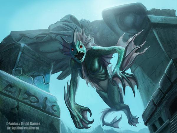 Дагон Lovecraft art, Дагон, Гидра, Глубоководные, Мифы Ктулху, Говард Филлипс Лавкрафт, KingMagician, Длиннопост