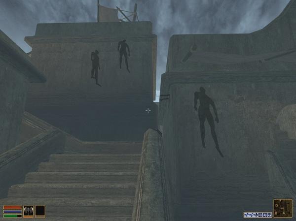 Когда переборщил с шейдерами The Elder Scrolls, Morrowind, Игры, Шейдеры, Моды, Тень, Крипота