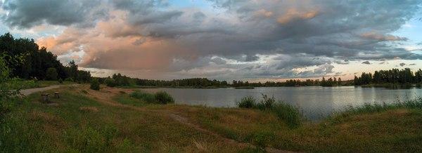 Просто вечерняя Торфянка. Озеро торфянка, Лосиный остров, Вечер, Фото, Закат