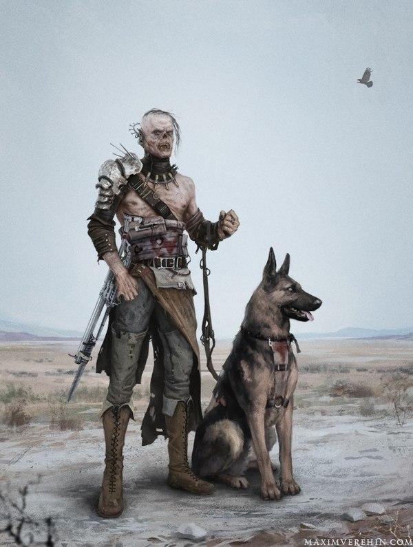 Собака - друг чело.. Человека! И нечеловека тоже друг! Постапокалипсис, Игры, Вроде фоллач, Fallout, Друг человека, Пустошь