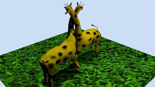 """Жираф """"по памяти"""" Sculptris, Blender, 3d моделирование, Длиннопост, Жираф"""