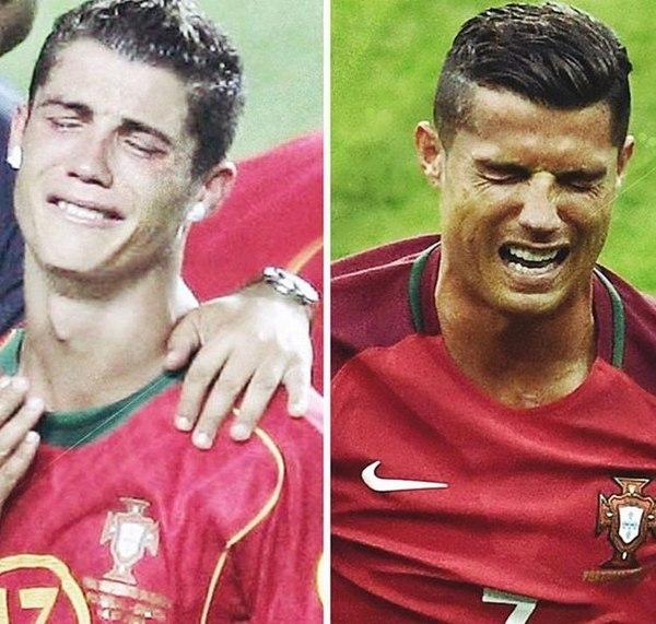 Спустя 12 лет футбольный мир настигло дежавю. Криштиану Роналду опять плачет в финале ЕВРО