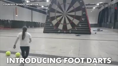 Foot darts (ногодартс). Футбол и дартс в одном.