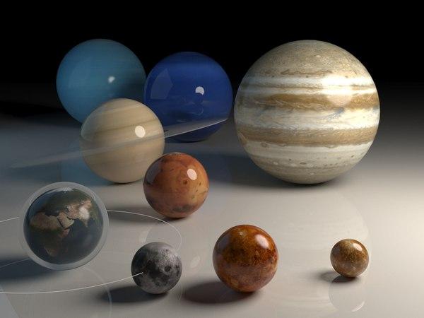 Планетки Планета, Космос, 3ds max, Vray