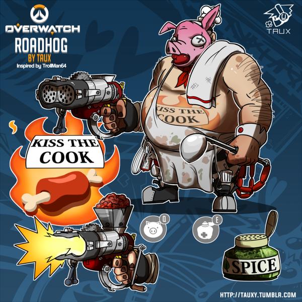 Roadhog Blizzard, Overwatch, Roadhog
