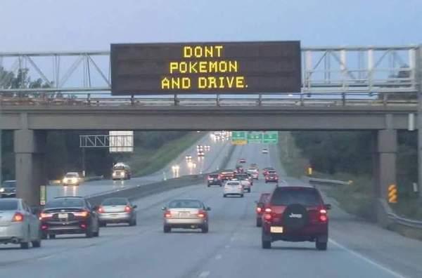 Не играйте в покемонов за рулем!