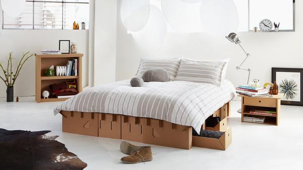 Картонная мебель Картон, Кровать, Экология, ЭкоСфера, Переработка, Видео