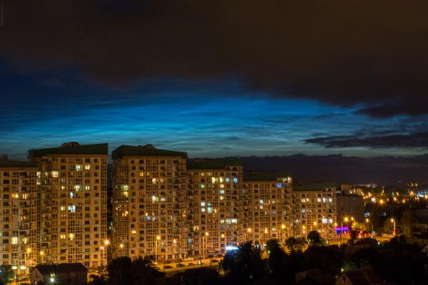 Еще немного серебристых облаков Фото, Серебристые облака, Минск