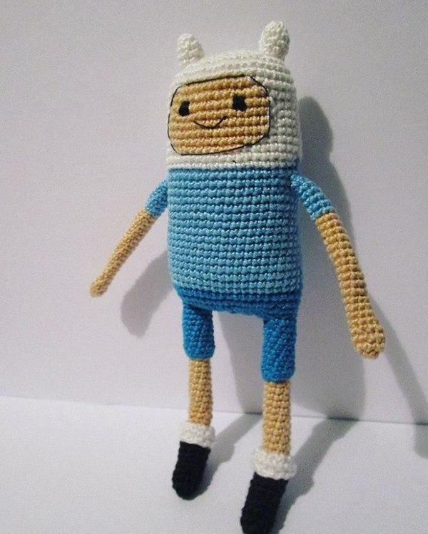 Финн, Время Приключений Финн, Adventure time, Игрушки, Своими руками, Милота, Подарок, Длиннопост
