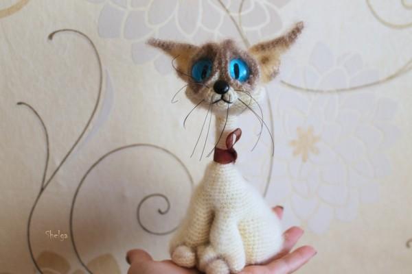 Грустнокот Кот, Авторская игрушка, Ну погладь меня, Ручная работа
