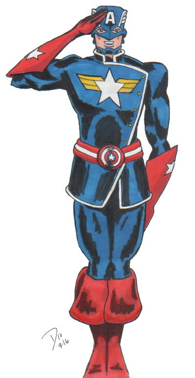 Немного редизайнов Капитана Америки Супергерои, Marvel, Капитан америка, Первый мститель, Арт, Длиннопост