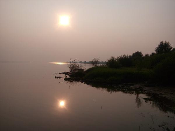 Два мира. Фото, Природа, Солнце, Отражение