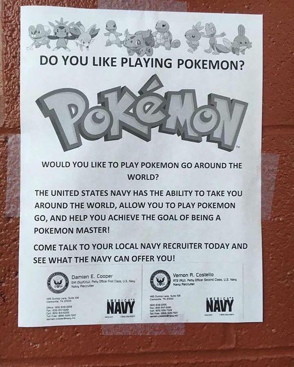 Хорошая попытка, капитан pokemon GO, армия, США, флот, военкомат, Хитрость, высокие технологии
